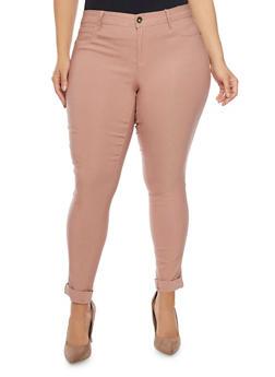 Plus Size Push Up Stretch Pants - 1874061650198