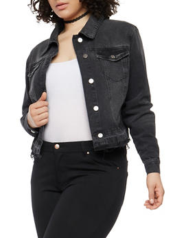 Plus Size Cello Black Denim Jacket - 1876063151077