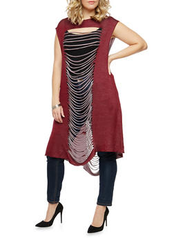 Plus Size Slashed Maxi Top - 1910058755797