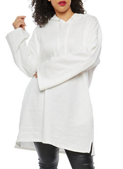 Plus Size Hooded Long Sweatshirt - 1912001441718