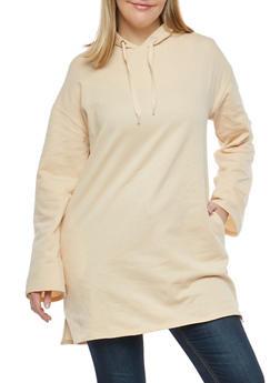 Plus Size Hooded Long Sweatshirt - 1912001441718