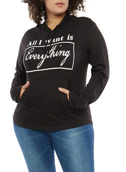 Plus Size Graphic Hooded Top - 1912033877928