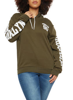 Plus Size Brooklyn Graphic Hooded Sweatshirt - 1912033878805