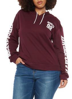 Plus Size Brooklyn Graphic Hooded Sweatshirt - 1912033878805