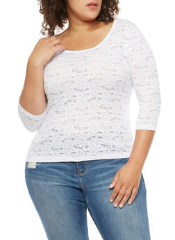 Plus Size Lace Top - 1912054260198