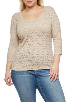 Plus Size Lace Top - 1912054260198