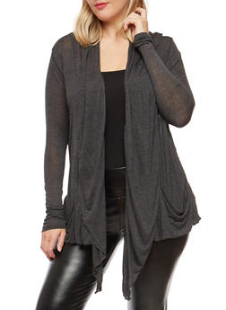 Plus Size Light Knit Cardigan - 1912054260612