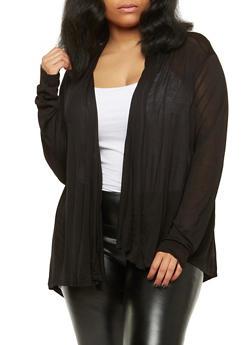 Plus Size Lightweight Cardigan - 1912054266731