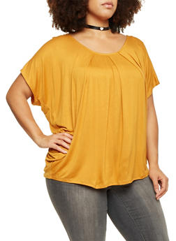 Plus Size Beaded Back Top - 1912058756371