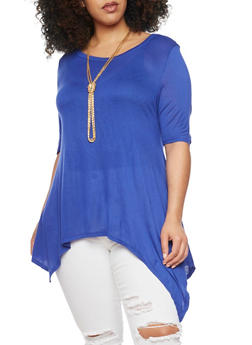 Plus Size Scoop Neck Sharkbite Top - 1912058937523