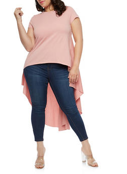 Plus Size High Low T Shirt - 1912062122652