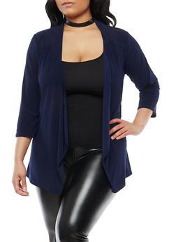 Plus Size Drape Front Cardigan - 1912062705119