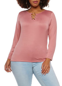Plus Size O Ring Detail Top - 1912062908675