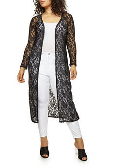 Plus Size Lace Duster - 1912063401661