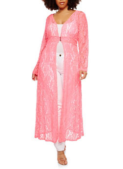 Plus Size Lace Duster - 1912074281046