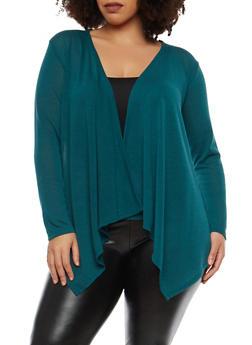 Plus Size Knit Cardigan - HUNTER - 1912074283302