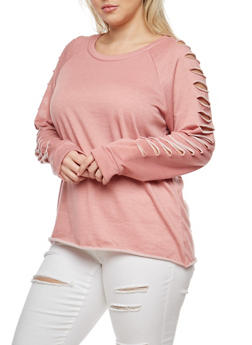 Plus Size Slashed Top - 1912074285055