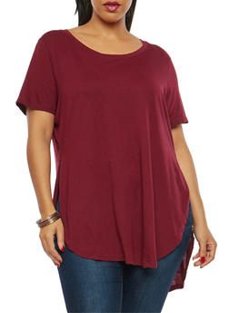 Plus Size Oversized High Low T Shirt - 1915054260411
