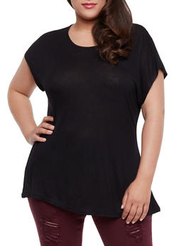 Plus Size Short Sleeve Tunic Top - 1915058930207