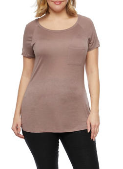 Plus Size Pocket Tee - 1915058930804