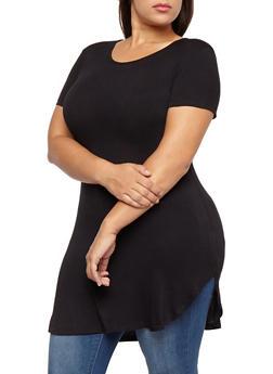 Plus Size Short Sleeve Tunic Top - 1915062701900