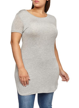 Plus Size Short Sleeve Tunic Top - 1915062701900