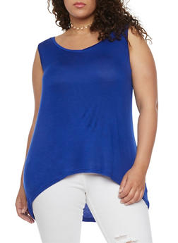 Plus Size High Low Tank Top - 1916038347021