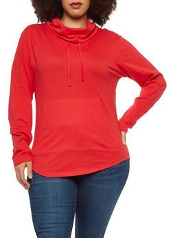Plus Size Cowl Neck Top - 1917033878448