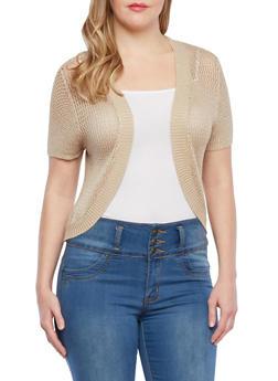 Plus Size Crochet Shrug - 1920038346201