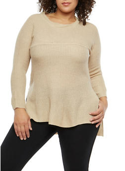 Plus Size High Low Sweater - 1920038347138