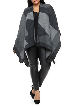 Plus Size Geometric Pattern Shawl - 1920071753444