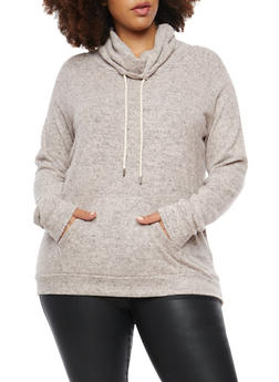 Plus Size Fleece Pull Over - 1924054216179