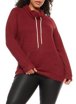 Plus Size Fleece Pull Over - 1924054216179