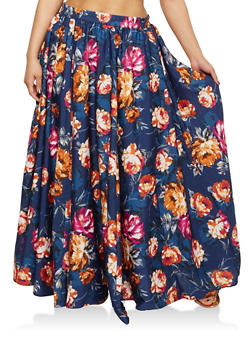 Plus Size Floral Maxi Skirt - 1929056126998