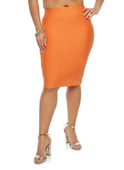 Plus Size Bandage Pencil Skirt - 1929068190072