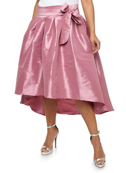 Plus Size Taffeta High Low Skirt - 1929069391002