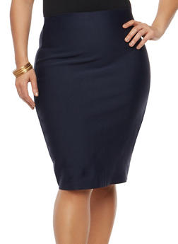 Plus Size Bandage Skirt - 1929069394066