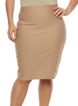 Plus Size Bandage Skirt - 1929069394066