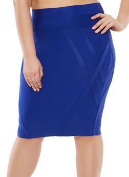 Plus Size Bandage Pencil Skirt - 1929069394069