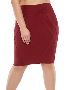 Plus Size Bandage Pencil Skirt - 1929069394069