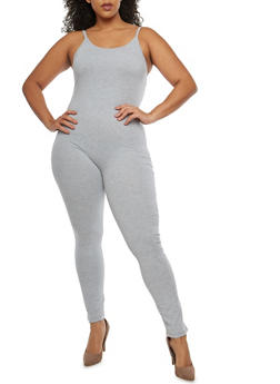 Plus Size Sleeveless Catsuit - 1930062700972