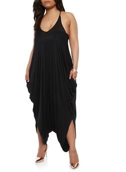 Plus Size Harem Jumpsuit - 1930062705624
