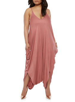 Plus Size Harem Jumpsuit - 1930062705624