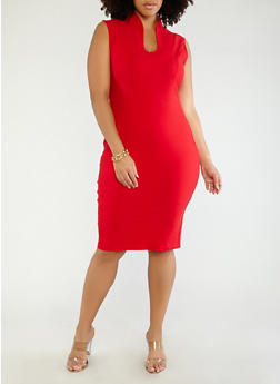 Plus Size Sheath Dress - 1930068512041