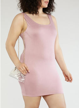 Plus Size Knit Bodycon Dress - 1930069393674
