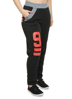 Plus Size Graphic Sweatpants - 1951038340022