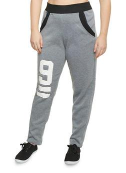 Plus Size Graphic Sweatpants - 1951038340022