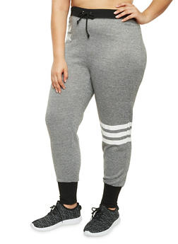 Plus Size Joggers with New York Print - 1951038340518