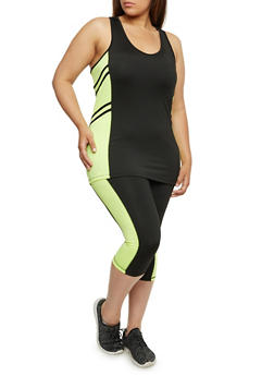 Plus Size Athletic Racerback Tank Top - 1951038340704