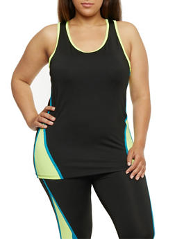 Plus Size Activewear Racerback Tank Top - 1951038340777